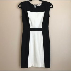 Ann Taylor Loft black and white dress sleeveless